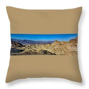 Zabriskie Point Panoramic Throw Pillow