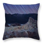 Zabriskie Point Star Trails Throw Pillow by Jane Rix