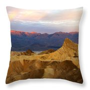 Zabriskie Point Sunrise Death Valley Throw Pillow