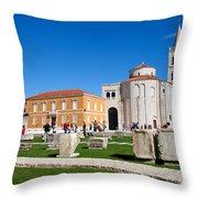 Zadar Historic Architecture Throw Pillow