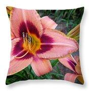 Zagora Daylilies Throw Pillow