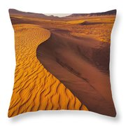 Zagora Desert In Morocco Throw Pillow
