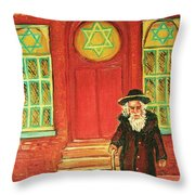 Zaida's  Shul Throw Pillow