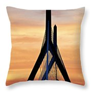 Zakim Bridge In Boston Throw Pillow by Elena Elisseeva