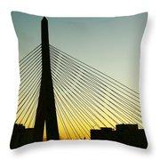 Zakim Bridge Silhouette Throw Pillow
