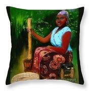Zambia Woman Throw Pillow