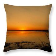 Zambian Sunrise Throw Pillow
