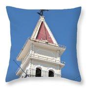 Zante Town-hall Old On Zakynthos Island - Greece  Throw Pillow