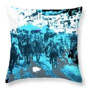 Zapata And Villa At Head Of Convencionista Army Mexico City December 6 1914-2013 Throw Pillow