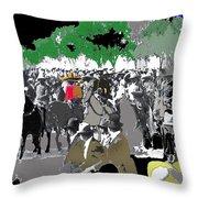 Zapata And Villa  Convencionista Army Mexico City December 6 1914-2013 Throw Pillow