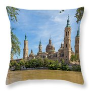 Zaragoza, Zaragoza Province, Aragon Throw Pillow