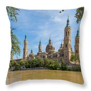 Zaragoza, Zaragoza Province, Aragon Throw Pillow