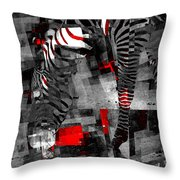 Zebra Art - 56a Throw Pillow