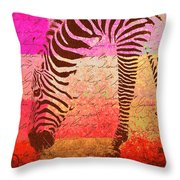 Zebra Art - T1cv2blinb Throw Pillow