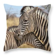 Zebra Bite Of Love Throw Pillow