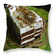 Zebra Cake Throw Pillow