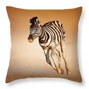 Zebra Calf Running Throw Pillow