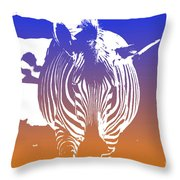 Zebra Crossing V6 Throw Pillow
