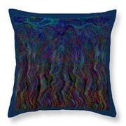 Zebra Falls Throw Pillow