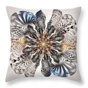 Zebra Flower Throw Pillow