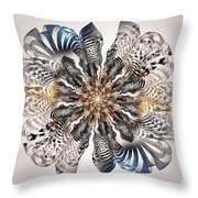 Zebra Flower Throw Pillow
