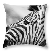 Zebra Head Profile Throw Pillow