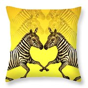Zebra Heart Throw Pillow