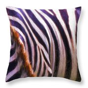 Zebra Lines Throw Pillow