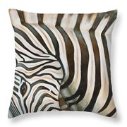 Throw Pillows Uncovered : Zebra Painting by Michal Shimoni