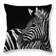 Zebra No. 3 Throw Pillow