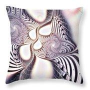 Zebra Phantasm Throw Pillow