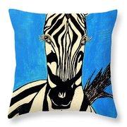 Zebra Portrait 5 Throw Pillow