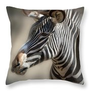 Zebra Profile Throw Pillow