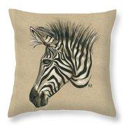 Zebra Profile Throw Pillow