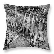 Zebra - Rainy Day Series Throw Pillow