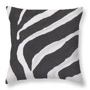 Black And White Zebra Stripes Throw Pillow