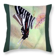 Zebra Swallowtail Butterfly By George Wood Throw Pillow