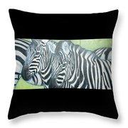 Zebra Triptych General Throw Pillow