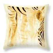 Zebra Up Closer Throw Pillow