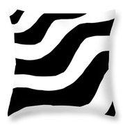 Zebra Waves Throw Pillow