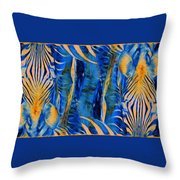 Zebras Abstracted Throw Pillow