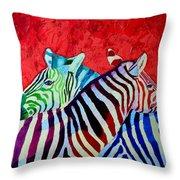 Zebras In Love  Throw Pillow
