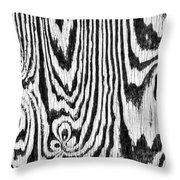 Zebras In Wood Throw Pillow