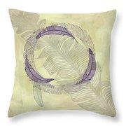 Zen Feather Circle I I I Throw Pillow