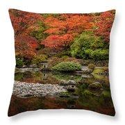 Zen Foliage Colors Throw Pillow