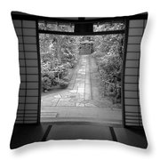 Zen Garden Walkway Throw Pillow