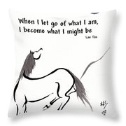 Zen Horse Releasing Throw Pillow