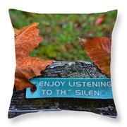 Zen Inner Peace Throw Pillow