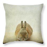 Zen Rabbit  Throw Pillow