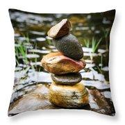 Zen River I Throw Pillow